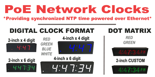 PoE Network Clock Application
