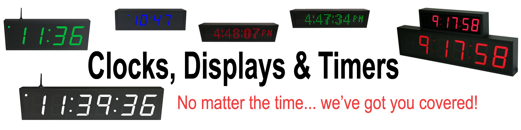 NTP PoE & WiFi Clock Timer and Dot Matrix Displays