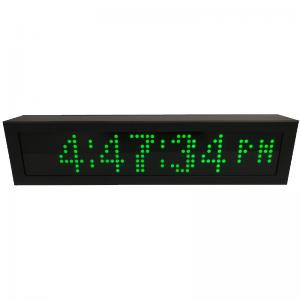 PoE Green Dot Matrix Network Clock Timer Custom Display