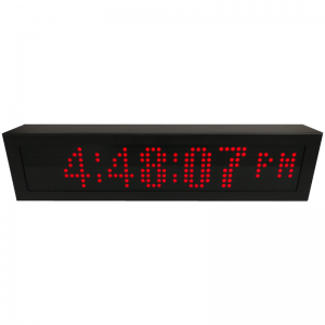 PoE Red Dot Matrix Network Clock Timer Custom Display