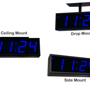 Image for NTP PoE Double-Sided Clock Timer, Blue, 4 Digits, Large Display