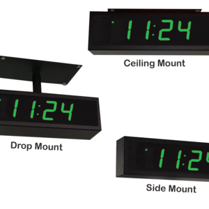 Image for NTP PoE Double-Sided Clock Timer, Green, 4 Digits, Small Display