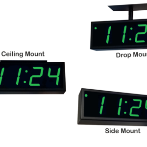 Image for NTP PoE Double-Sided Clock Timer, Green, 4 Digits, Large Display