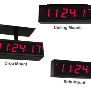 Image for NTP PoE Double-Sided Clock Timer, Red, 6 Digits, Small Display