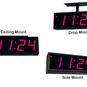 Image for NTP PoE Double-Sided Clock Timer, Red, 4 Digits, Large Display