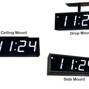 Image for NTP PoE Double-Sided Clock Timer, White, 4 Digits, Large Display