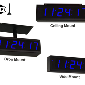 Image for NTP WiFi Double-Sided Clock Timer, Blue, 6 Digits, Small Display