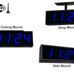 Image for NTP WiFi Double-Sided Clock Timer, Blue, 4 Digits, Large Display