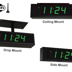 Image for NTP WiFi Double-Sided Clock Timer, Green, 4 Digits, Small Display