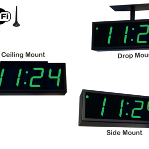 Image for NTP WiFi Double-Sided Clock Timer, Green, 4 Digits, Large Display