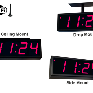Image for NTP WiFi Double-Sided Clock Timer, Red, 4 Digits, Large Display