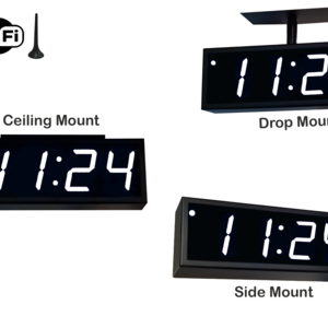 Image for NTP WiFi Double-Sided Clock Timer, White, 4 Digits, Large Display