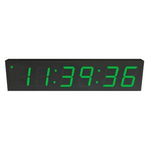 NTP PoE Clock Timer Display green-6 large digits