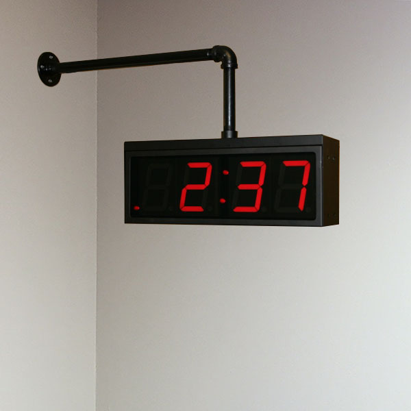 4 digit wall clock mounting system