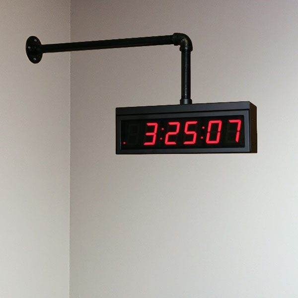 6 digital wall clock pipe accessory