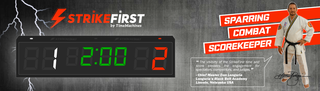 strikefirst - sports competition clock and countdown scorekeeper for all sports including taekwondo