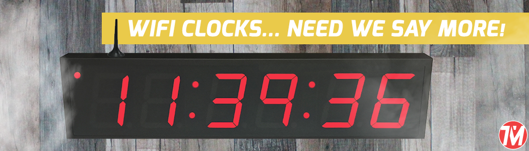 digital wifi clocks with multiple colors and sizes