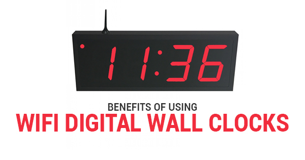 WiFi Digital Wall Clock | TimeMachines Inc